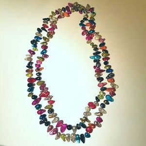 Jewel Toned Mother of Pearl Necklace
